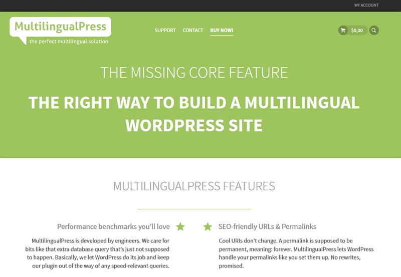 WordPress-Plugin-MultilingualPress-Website