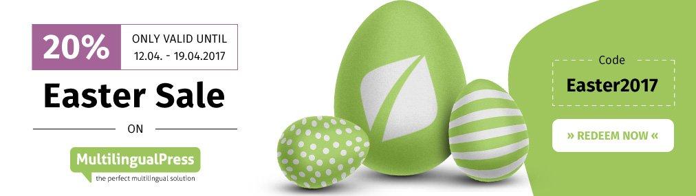 MultilingualPress Easter Sale at Inpsyde!