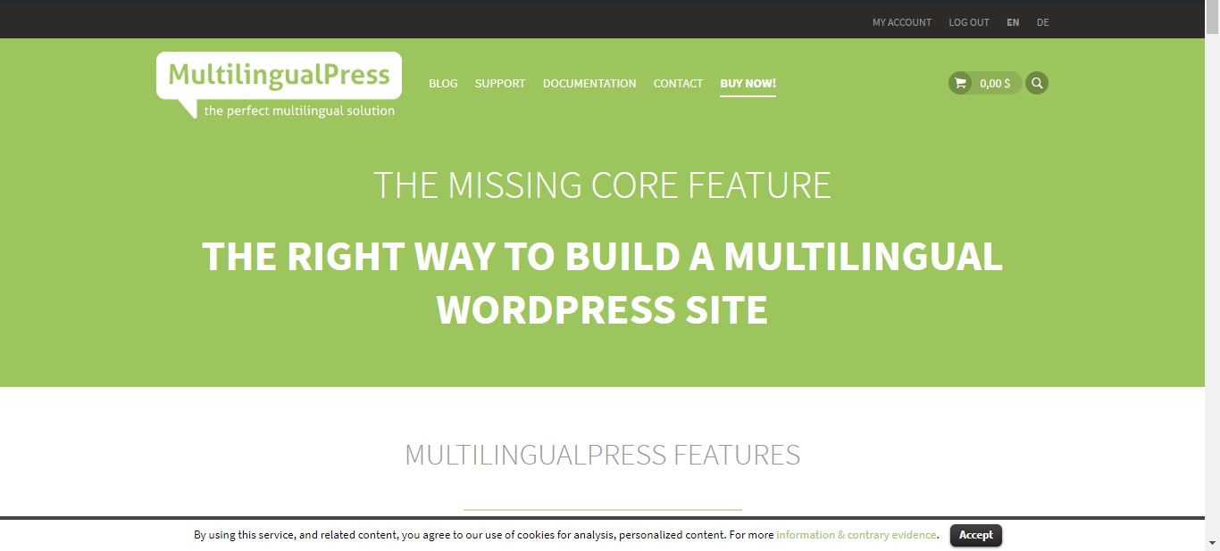 WordPress Multisite Overview - Example Inpsyde Product Pages