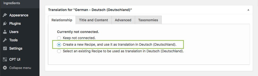 Connect custom post types with MultilingualPress