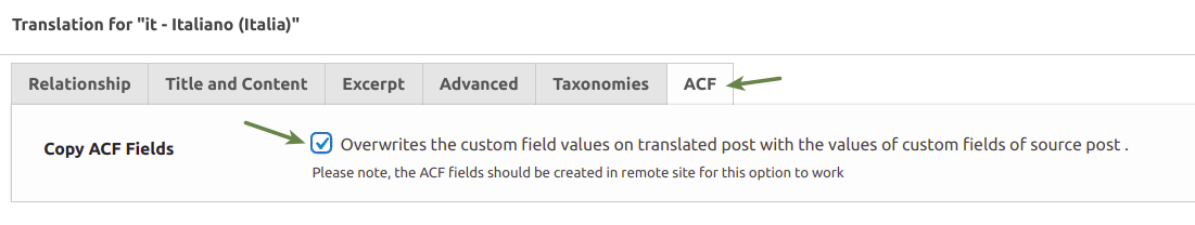Copy ACF field option on translation meta-box