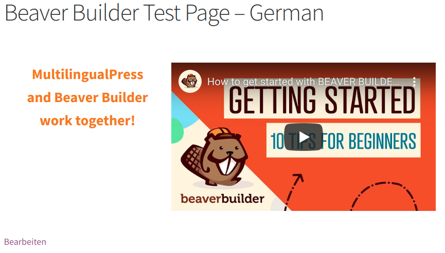 Beaver Builder Test Page - Italian version
