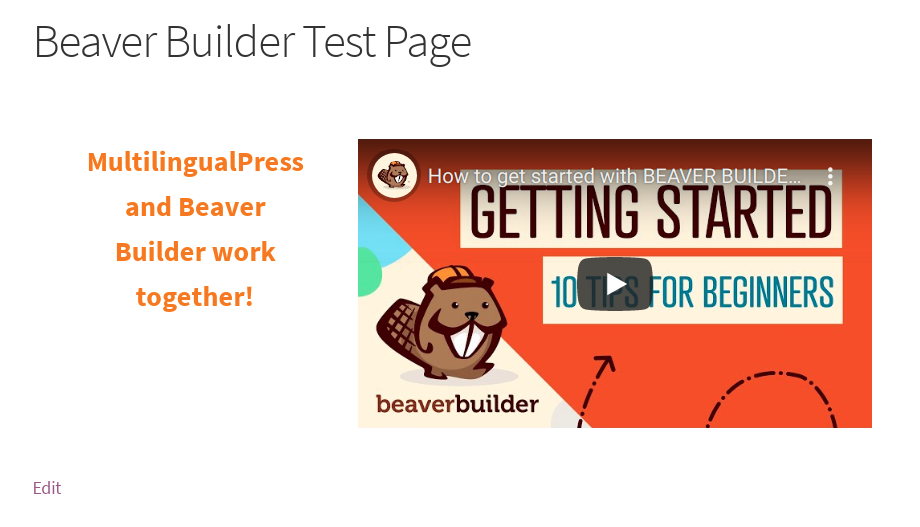 Page edited with Beaver Builder
